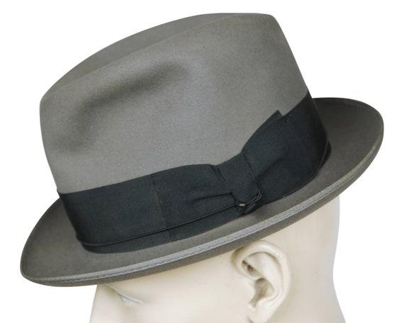 Vintage 1930s GB Borsalino Di Lazzaro Grey Fedora