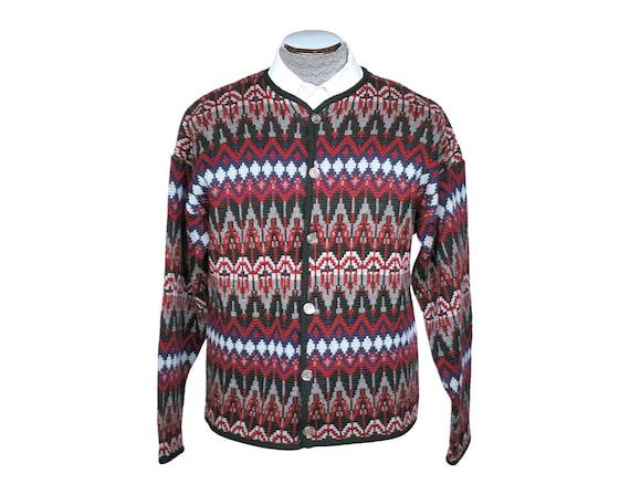 Vintage Jantzen Sweater 1960s Ski Cardigan Mens Si