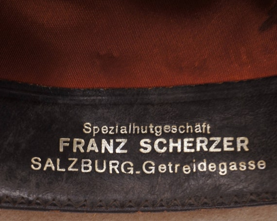Vintage Rockel Fedora 1970s Mens Velour Hat Alpen… - image 9