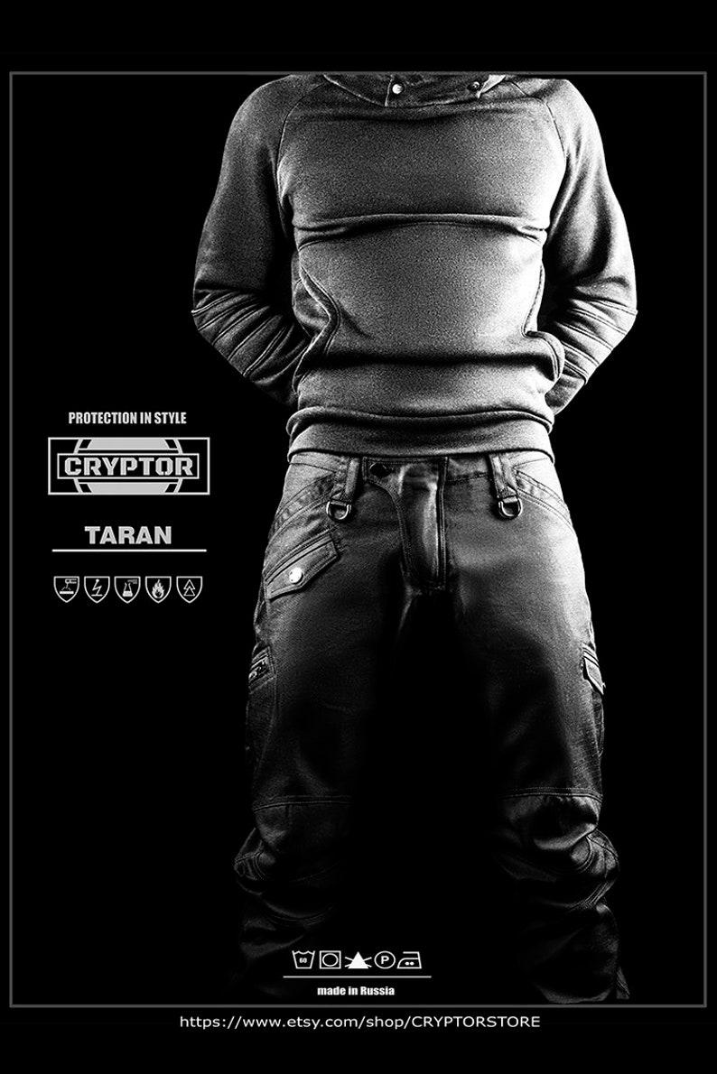 7cc57c6de4b31 TARAN by CRYPTOR Black Mens Pants  Cyberpunk Mens Pants