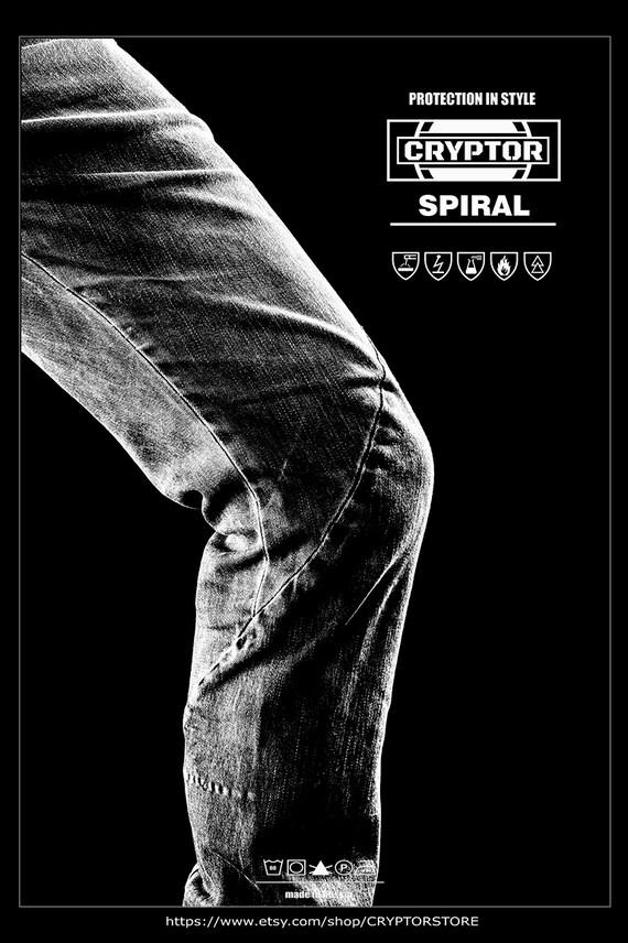Entwerfer Freek Industial Mens Hosen Cyberpunk Mens Hosen dunkle Fashion Style Herren Hosen Grunge Mode ULTIMATUM von CRYPTOR .