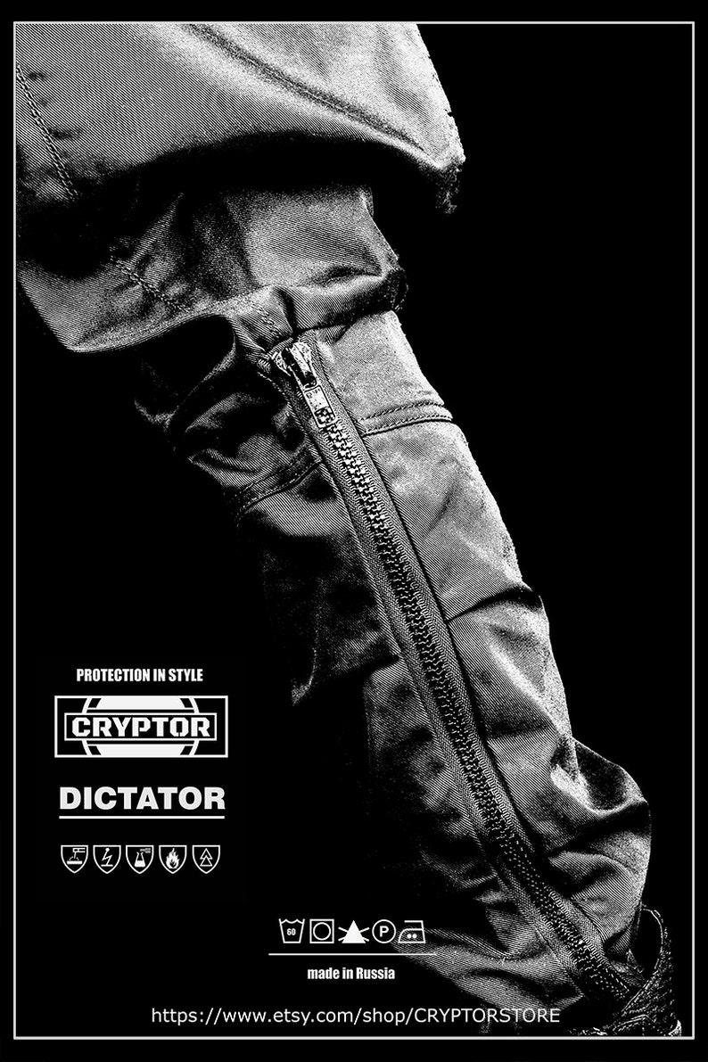60fcf5c3526256 DICTATOR by CRYPTOR Black Mens Pants  Cyberpunk Mens Pants
