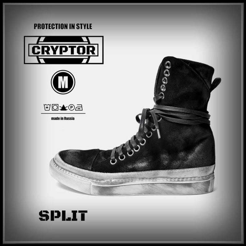 ee518448f05a SPLIT by CRYPTOR PT01 Black mens boots cyberpunk style