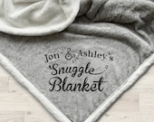 Personalized Sherpa Blanket Monogram Throw Blanket Gift Ideas for Couples Anniversary Wedding Engagement Gifts Gifts for Her