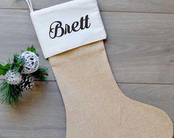 Christmas stocking/Personalized Burlap Stocking/Burlap Stocking/Monogram stocking/Burlap stockings/Stockings/Personalized/Monogram/Family
