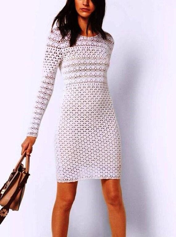 dress custom crochet ladies Beautiful white PqzA7nwFn