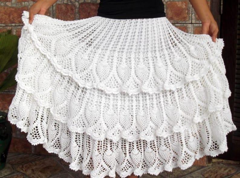 Ladies long skirt crochet  custom