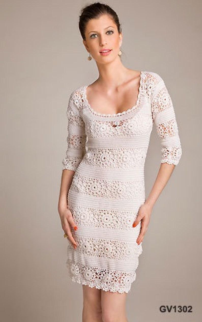 White wedding dress White dress crochet  custom