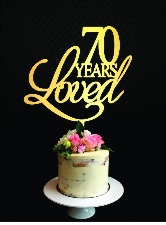 Strange 70 Years Loved Cake Topper Classy 70Th Birthday Cake Topper Etsy Funny Birthday Cards Online Bapapcheapnameinfo