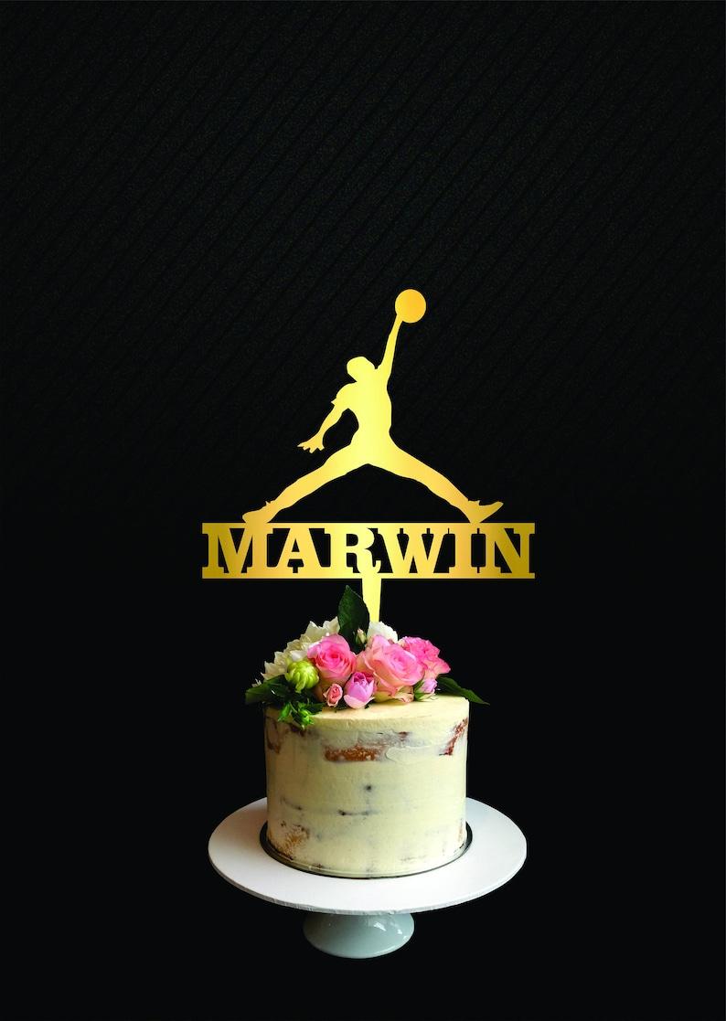 Astounding Michael Jordan Cake Topper Player Cake Topper Jordan Birthday Etsy Funny Birthday Cards Online Elaedamsfinfo