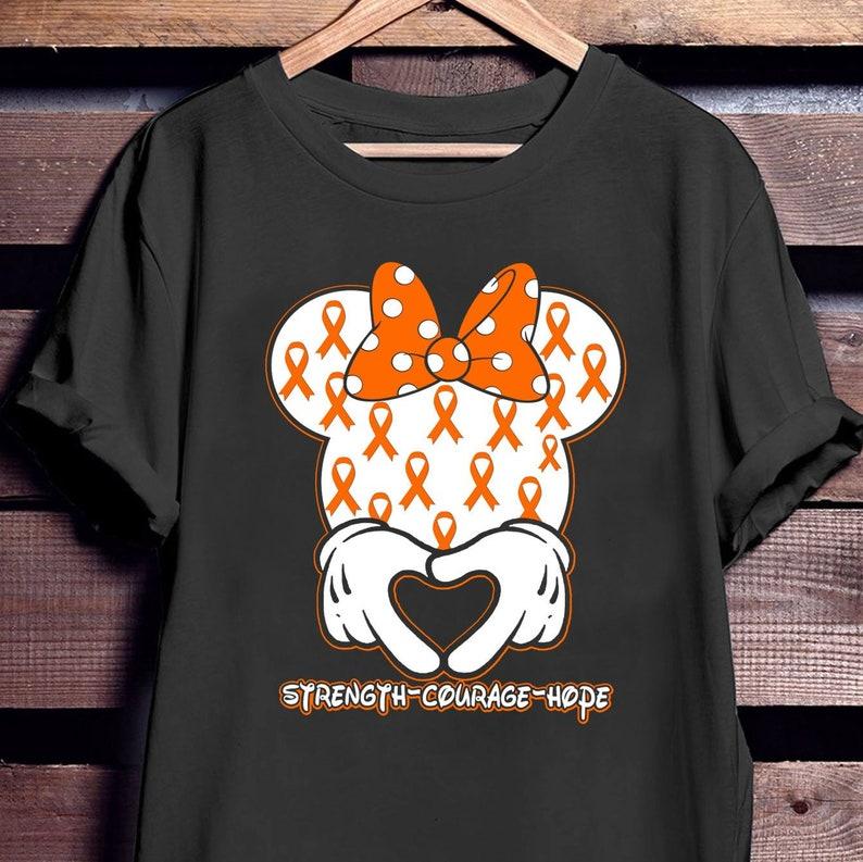 9a6e2a26a7 Orange Ribbon Shirt, Encourage Strength Hope Leukemia Awareness T-shirt,  Support Kidney Cancer, Lupus, ADHD Tee Shirt