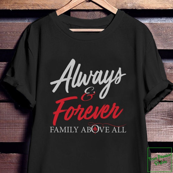 Family First The Originals Shirt for Women and Men Vampire Diaries Always and Forever You and Me T-Shirt and Long Sleeve Pair Print