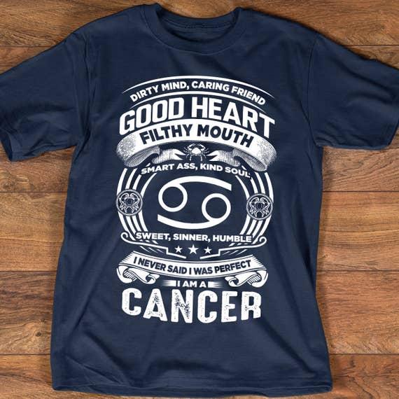 Cancer Zodiac T Shirt Astrology Birthday