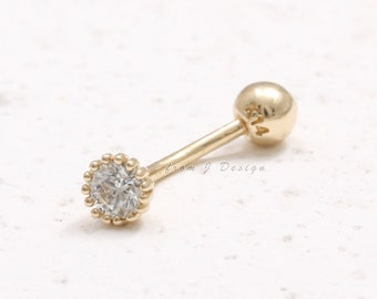 Rook or Eyebrow Piercing Arrow Small Curved Barbell Bar Ring UK Seller
