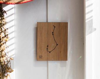 Scorpius Constellation Picture - Scorpio - Zodiac - Wooden handmade - Woodworking - Wood - Sign - Wall Art- Custom - Gift