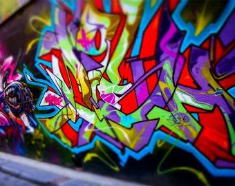 Melbourne Art Print - Graffiti Art - Graffiti Photography - Melbourne Print - Melbourne Australia - Street Art - Urban Photography