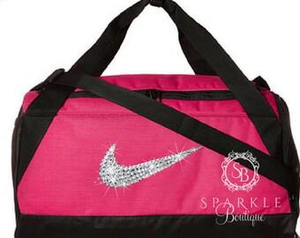 e7941f8e64a Swarovski Nike Brasilia Duffel Bag - BLING Nike Duffel Bag - SMALL Bag - Gym  Bag - Sports Bag - Bling Nike Bag - SparkleBoutique2U