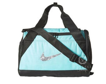 Swarovski Nike Brasilia Duffel Bag - BLING Nike Duffel Bag - X - SMALL Bag  - Gym Bag - Sports Bag - Bling Nike Bag - SparkleBoutique2U 98474d505799f