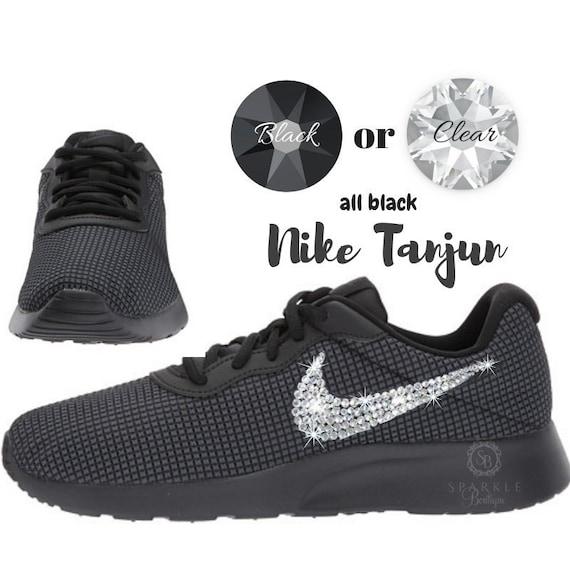 Swarovski Nike Tanjun BLING Shoes For Women Custom Nike   Etsy 94bef5c213