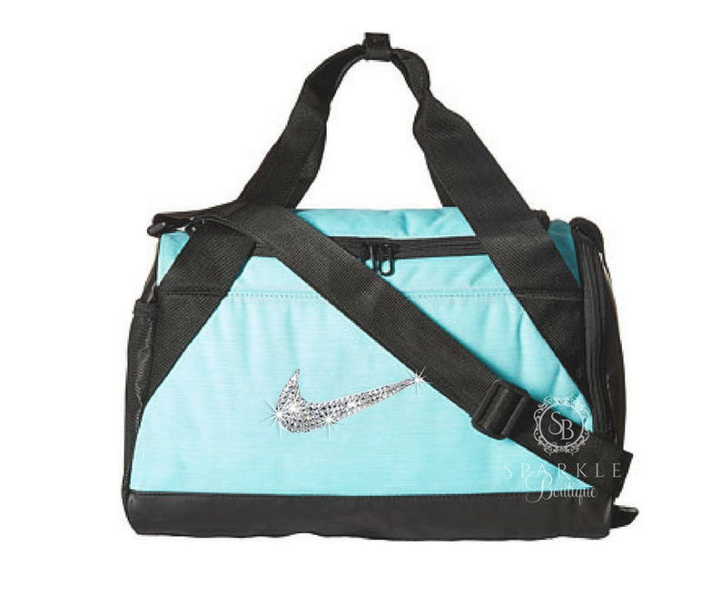 Swarovski Nike Brasilia Duffel Bag - BLING Nike Duffel Bag - X - SMALL Bag  - Gym Bag ... 4e8f50d5caeb0