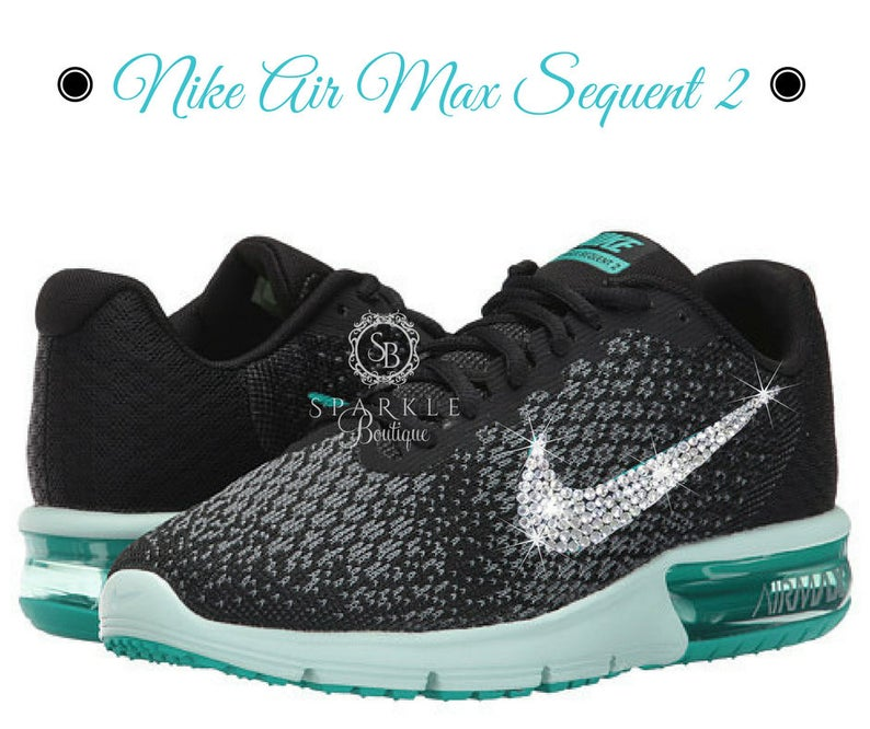 9b67d376092 Swarovski Nike Sequent 2 Nike BLING BEDAZZLED Size 8