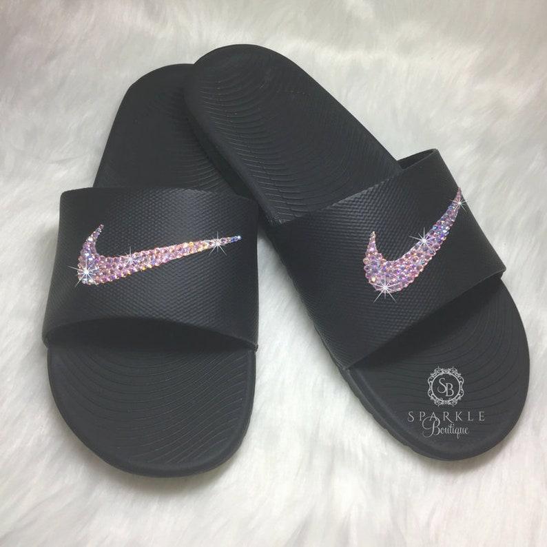 22a1ea089e7f Women s Nike Slides Swarovski Nike Kawa Slides