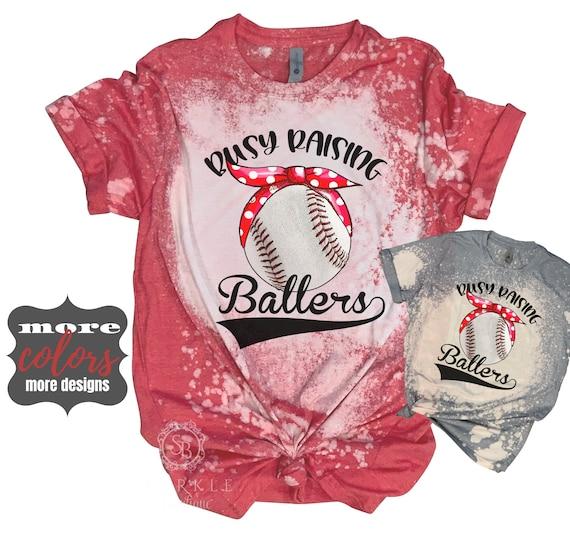 Bleached Baseball T-shirt-small-3XL-Free Shipping.