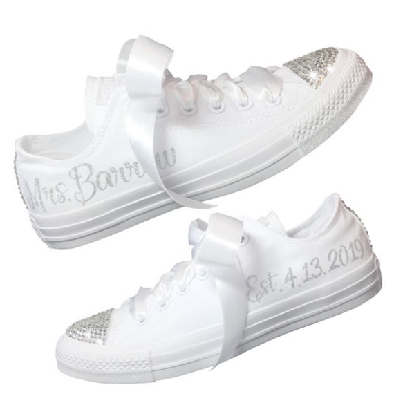 Wedding Shoes Converse Bridal Sneaker Wedding Shoes For Bride Etsy
