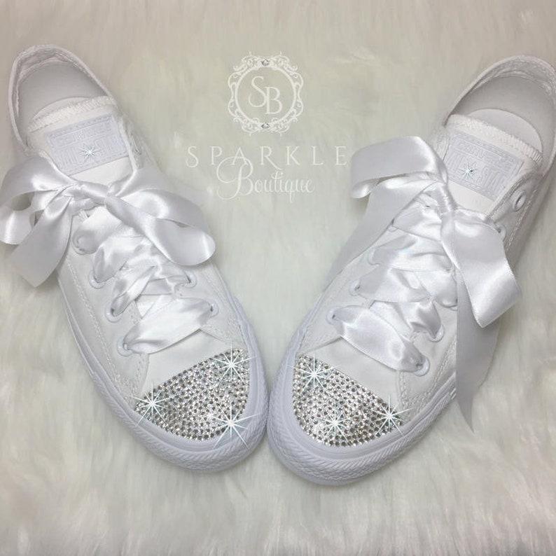5274f4390ae6 Wedding Converse SWAROVSKI Custom Converse Wedding Chucks