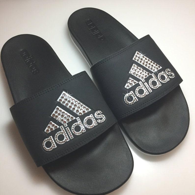 842ad21691571 Custom adida Slides Adidas Sandal Bling Slides Ships 1-3 Days