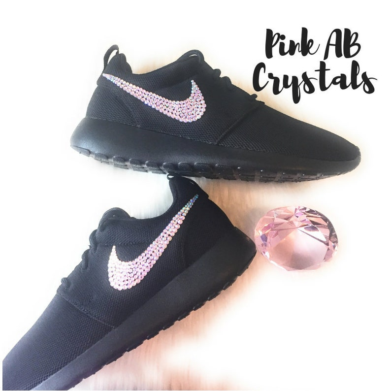 4226c9658770 Nike Roshe Blinged Out with PINK AB Crystals Bedazzled