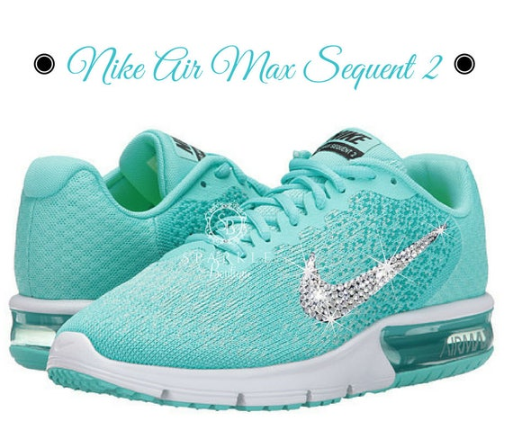 Swarovski Nike Shoe Air Max Sequent 2 with BLING Bedazzled  12b4b3f3c07a