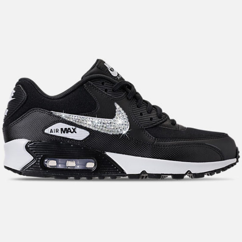 Womens Nike Air Max 90 with Swarovski BLINGED OUT Nike Kicks  b84755db74