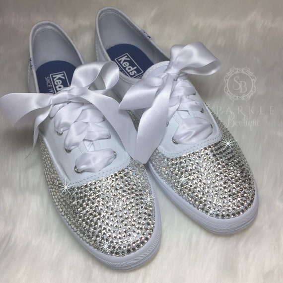 Wedding Shoes Blinged Out with Swarovski Crystals Bedazzled  73dd5d327e