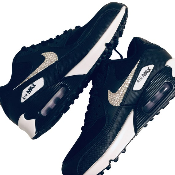 Womens Nike Air Max 90 with Swarovski BLINGED OUT Nike Kicks Bedazzled Sneakers