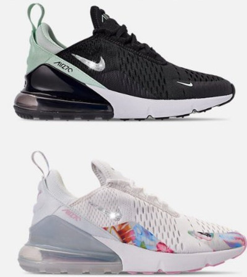 Women s Nike 270 Sneakers with Swarovski Casual Air Max  a8fed6a92f64
