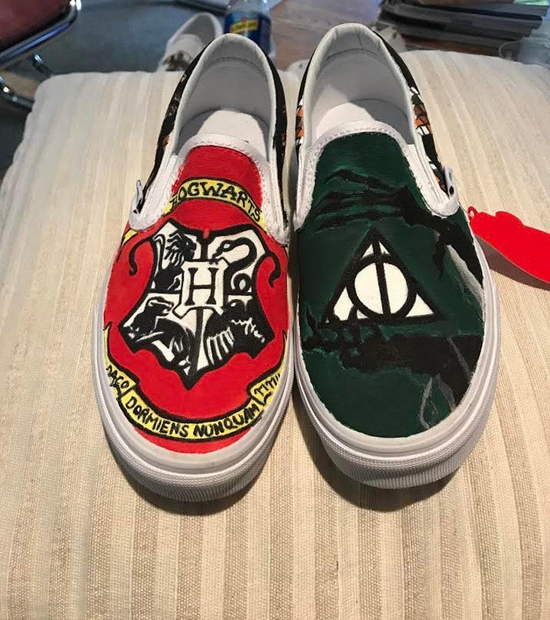 66d2fc62fb Harry Potter Custom Vans