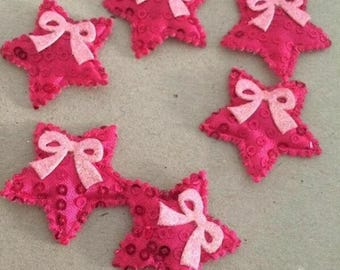 Lot 6 star applique fabric