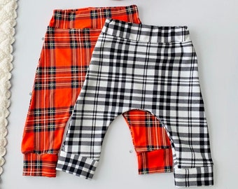 Black and Red Plaid Harem Pants Boys Harem Pants Girls Harem Pants