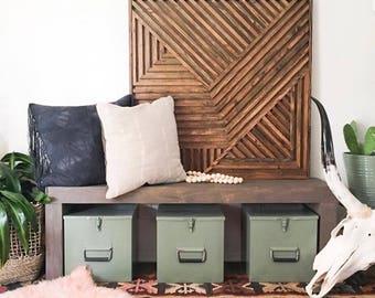 Wood Wall Art, Rustic Wood Art, Reclaimed WoodnArt, Geometric Wall Art, Geometric Wood Art, Modern Wood Art, Modern Wall Art