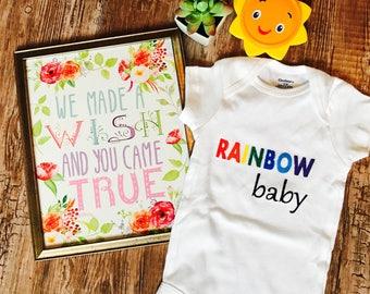Rainbow Baby Onesie  • Rainbow Baby Shirt • Rainbow Baby Gift • Baby Shower Gift • Rainbow Baby Announcement