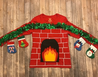 ugly christmas sweater ugly sweater party christmas shirt red fireplace sweater womens ugly christmas sweater