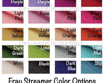 5 custom colors Party Streamer, Fringe Streamer, Fray Streamer, Garland, Photo Backdrop, Fringe Banner, Fringe Backdrop, Streamer Backdrop