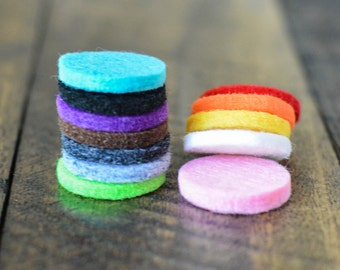 Felt Pads for 30mm Diffuser Locket - Essential Oil Diffuser Felt Pads for Diffuser Jewelry - Aromatherapy Jewelry Diffuser Pads