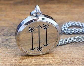 Arrow Diffuser Necklace - Essential Oil Diffuser Necklace for Men - Aromatherapy Necklace for Women - Arrow Necklace - Diffuser Jewelry