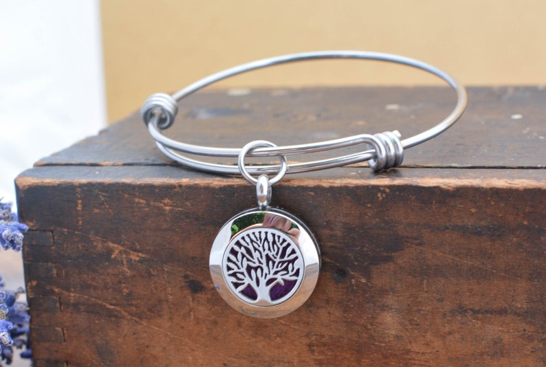 Tree of Life Diffuser Bracelet for Women  Essential Oil image 0