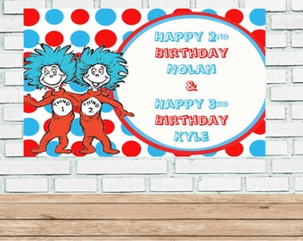 Thing 1 And Thing 2 Decorations Etsy
