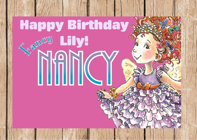 3x6 Fancy Nancy vinyl Birthday Banner
