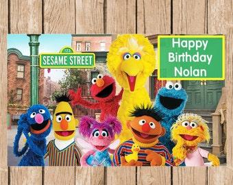 Sesame Street Birthday Vinyl Banner