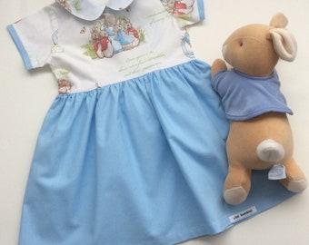 ba22f3f94 Peter Rabbit Dress - Custom MADE TO ORDER Sizes 0000 - 5, Girls Easter  Dress, Blue Baby Girl Dress, Beatrix Potter Dress, Australian Seller
